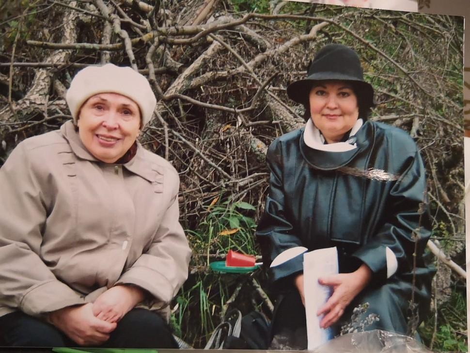 Т. Максименко с В. А. Торжковой в Зарайске