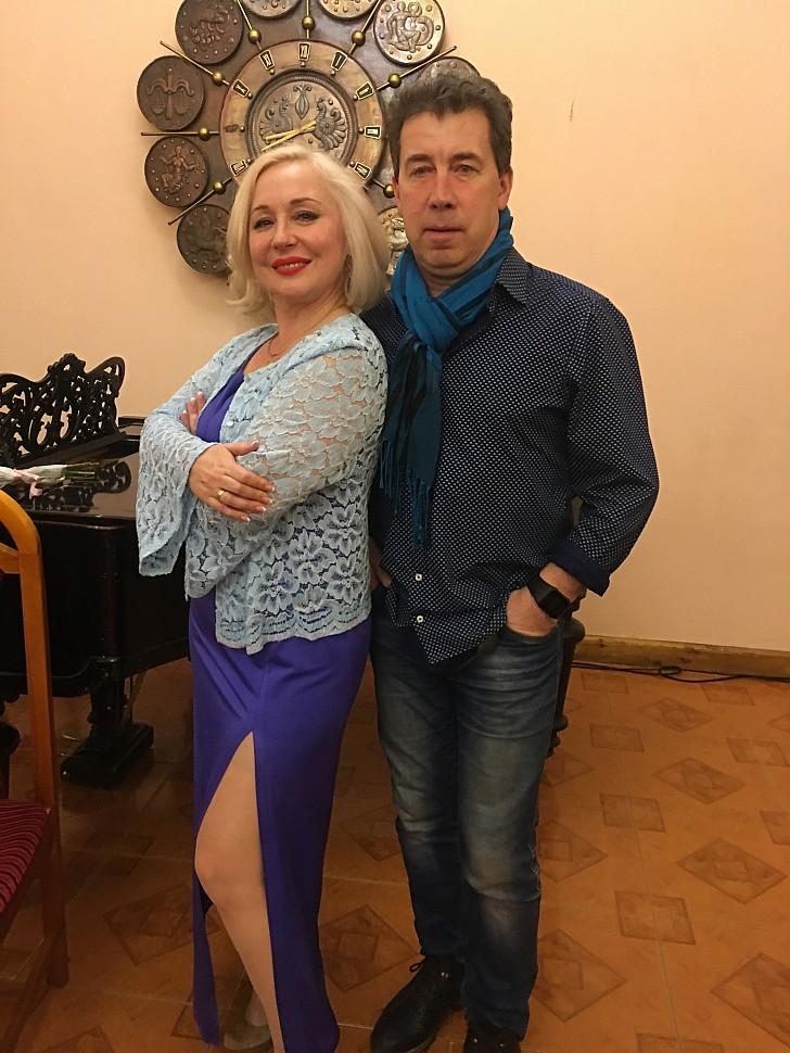 Участники концерта: Анна ЧЕРНЕЦКАЯ и Сергей ЛЕОНТЬЕВ