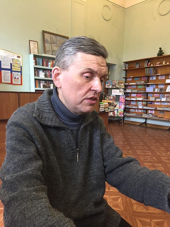 """Станислав Зотов на встрече с членами ЛИТО """"Крылья"""""""